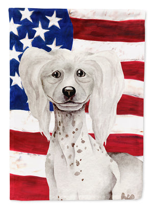 Buy this Chinese Crested Patriotic Flag Canvas House Size CK1387CHF