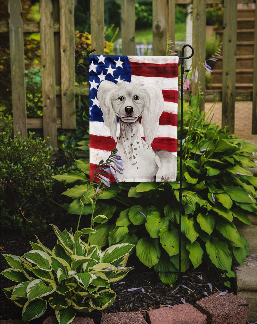 Buy this Chinese Crested Patriotic Flag Garden Size CK1387GF