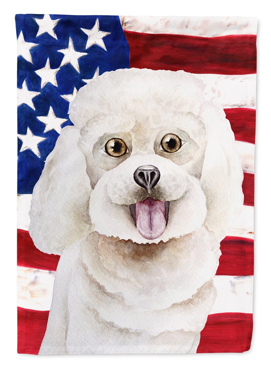 Buy this Bichon Frise Patriotic Flag Canvas House Size CK1388CHF