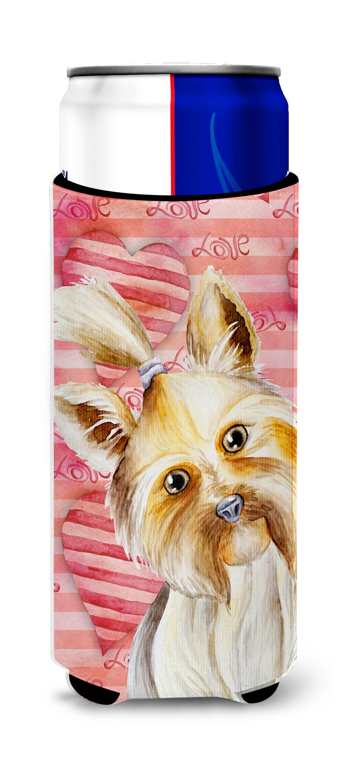 Buy this Yorkie Yorkshier Terrier Love Michelob Ultra Hugger for slim cans CK1389MUK