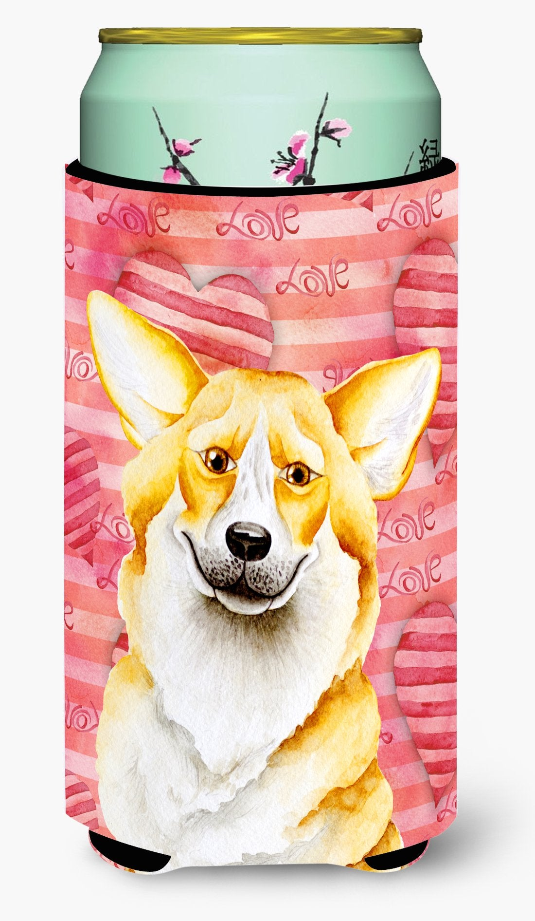 Corgi Love Tall Boy Beverage Insulator Hugger CK1390TBC by Caroline's Treasures