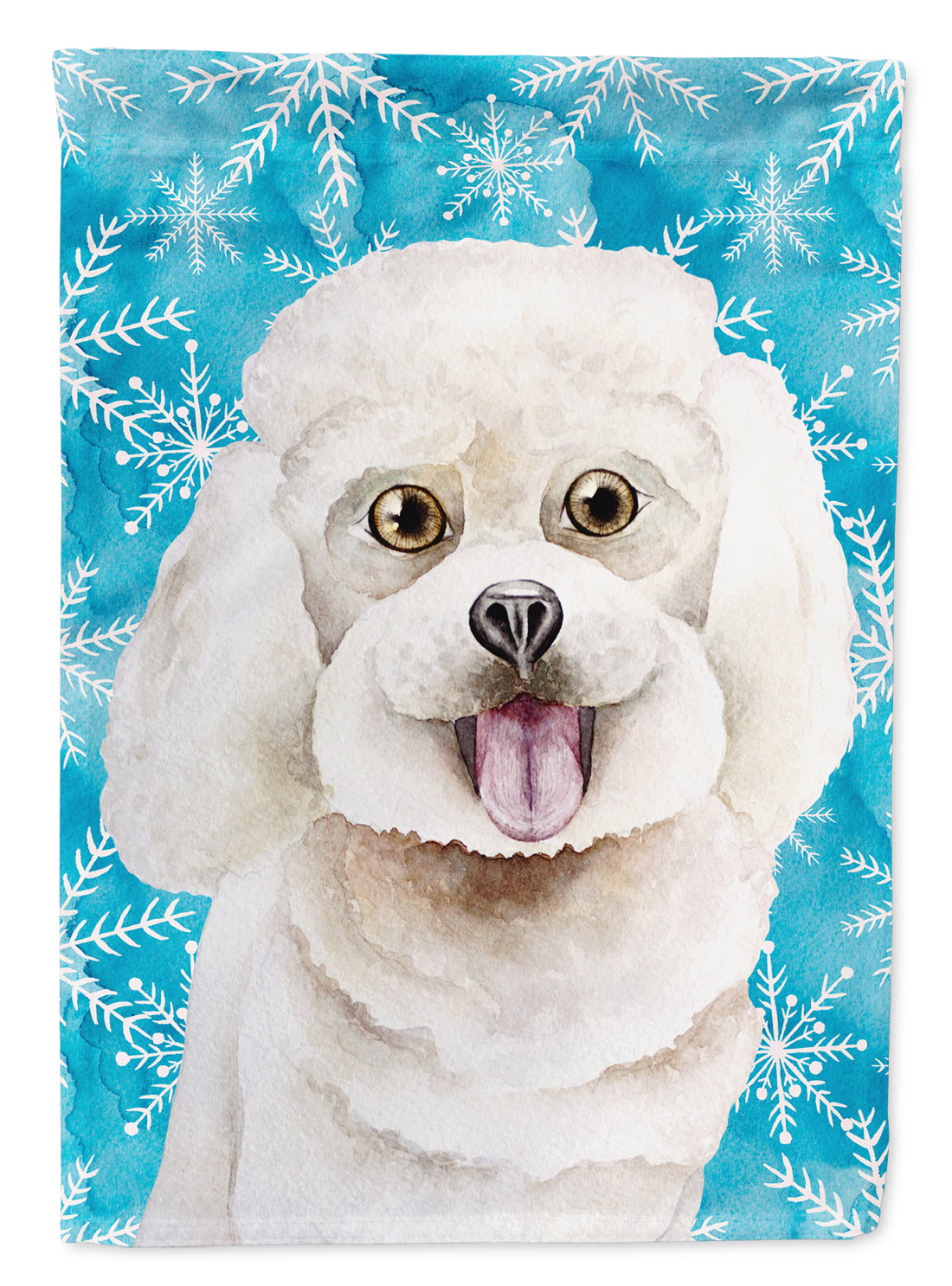 Bichon Frise Winter Flag Canvas House Size CK1416CHF by Caroline's Treasures
