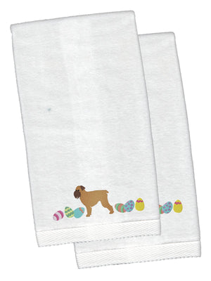 Buy this Brussels Griffon Easter White Embroidered Plush Hand Towel Set of 2 CK1617KTEMB