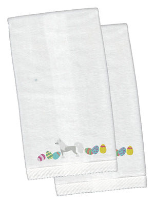 Buy this Chinese Crested Easter White Embroidered Plush Hand Towel Set of 2 CK1625KTEMB