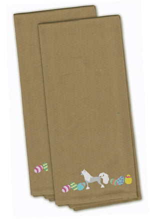 Buy this Chinese Crested Easter Tan Embroidered Kitchen Towel Set of 2 CK1625TNTWE