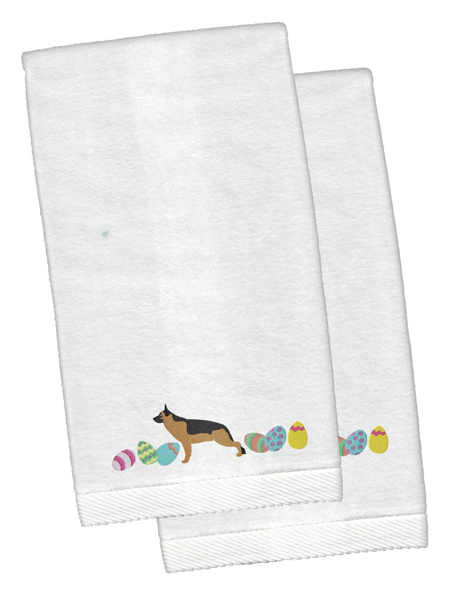 Buy this German Shepherd Easter White Embroidered Plush Hand Towel Set of 2 CK1644KTEMB
