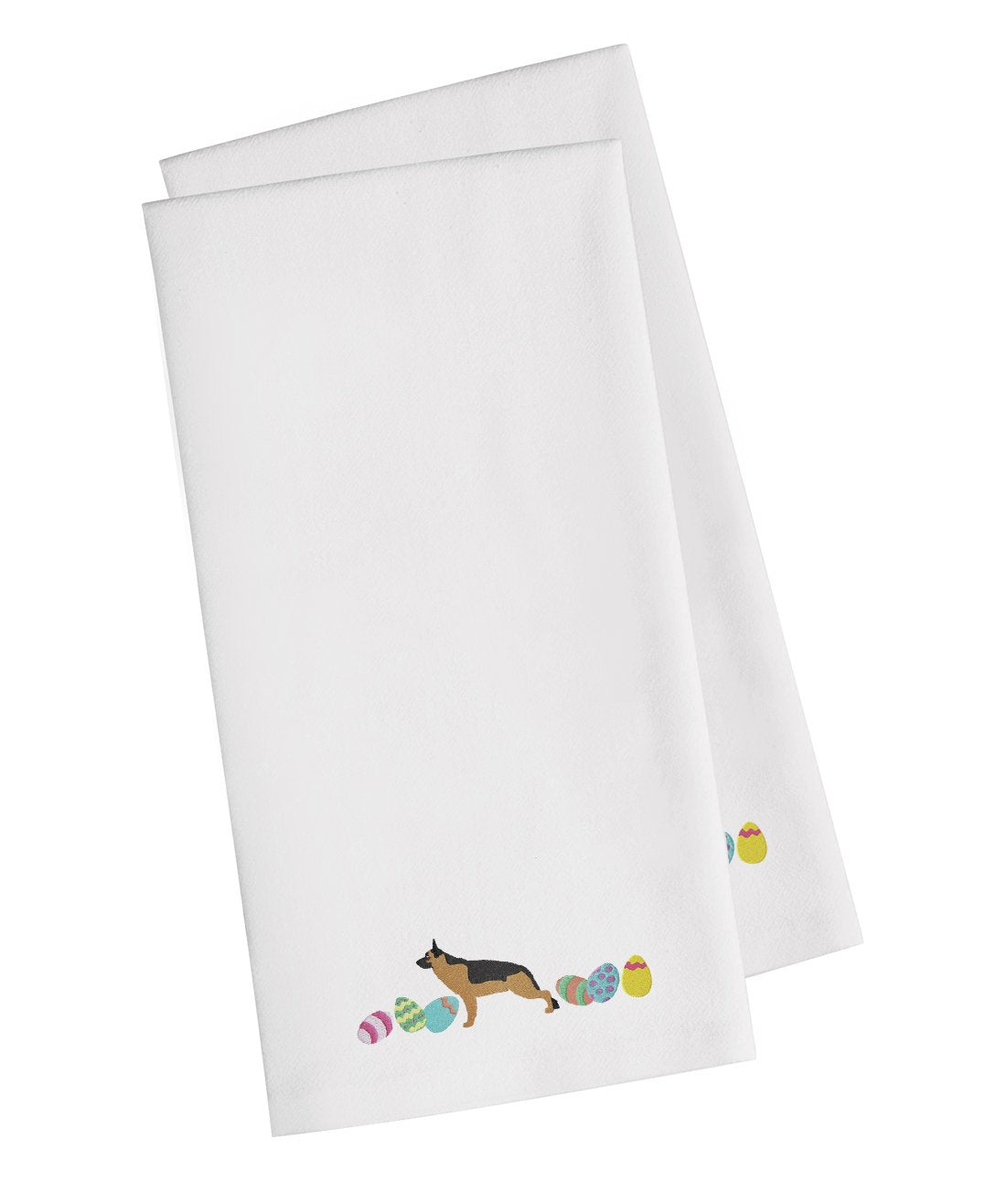 Buy this German Shepherd Easter White Embroidered Kitchen Towel Set of 2 CK1644WHTWE