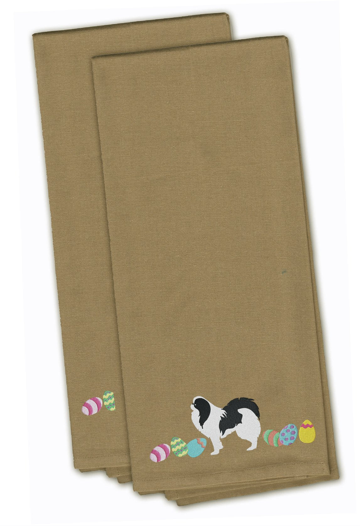 buy this japanese chin easter tan embroidered kitchen towel set of 2 ck1658tntwe - Chins Kitchen 2