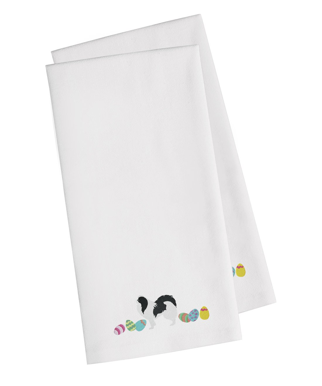 buy this japanese chin easter white embroidered kitchen towel set of 2 ck1658whtwe - Chins Kitchen 2