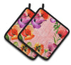 Poppy Flowers Pair of Pot Holders by Caroline's Treasures
