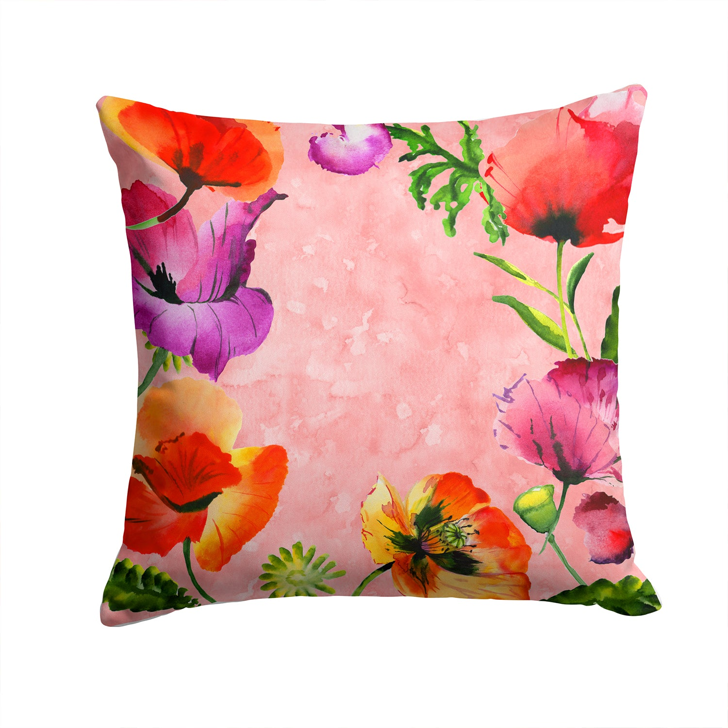 Buy this Poppy Flowers Fabric Decorative Pillow CK1701PW1414