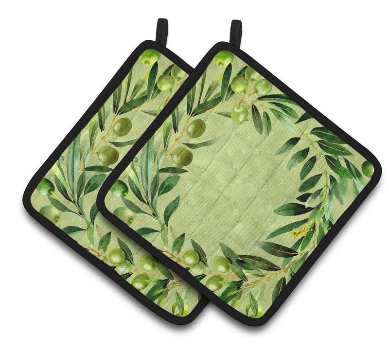Buy this Olives Pair of Pot Holders