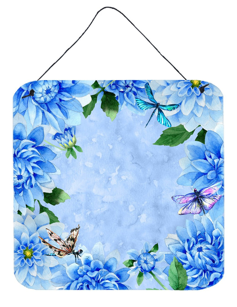 Buy this Blue Dahlias Wall or Door Hanging Prints