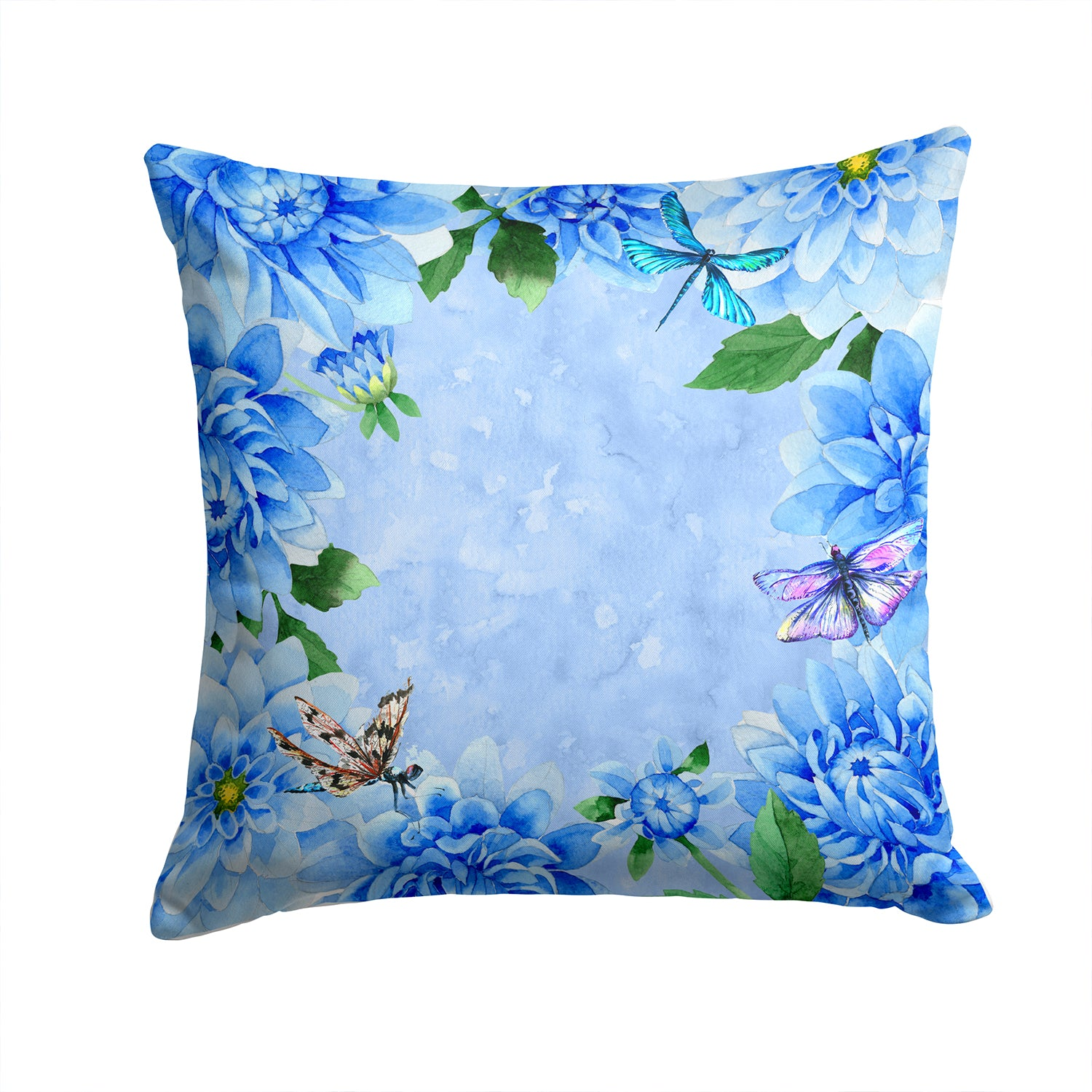 Buy this Blue Dahlias Fabric Decorative Pillow CK1705PW1414