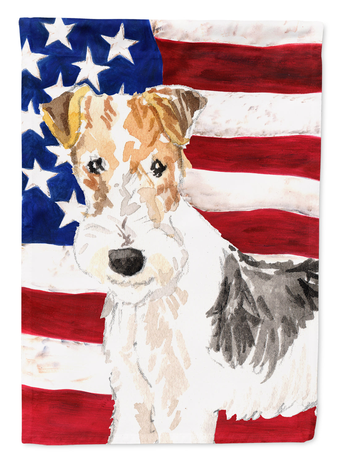 Patriotic USA Yorkie Yorkshire Terrier Flag Canvas House Size CK1707CHF by Caroline's Treasures