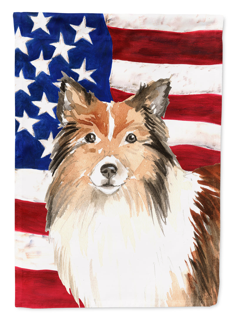 Buy this Patriotic USA Sheltie Flag Garden Size CK1716GF