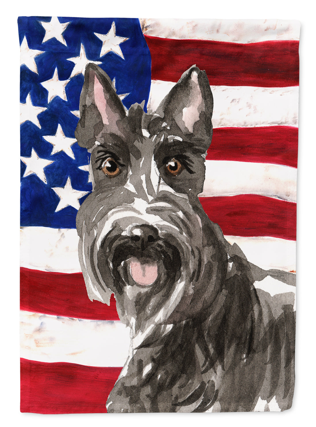 Patriotic USA Scottish Terrier Flag Canvas House Size CK1717CHF by Caroline's Treasures