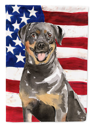 Buy this Patriotic USA Rottweiler Flag Canvas House Size CK1720CHF