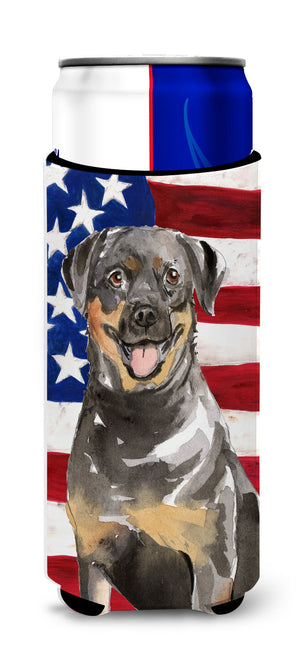 Buy this Patriotic USA Rottweiler Michelob Ultra Hugger for slim cans CK1720MUK