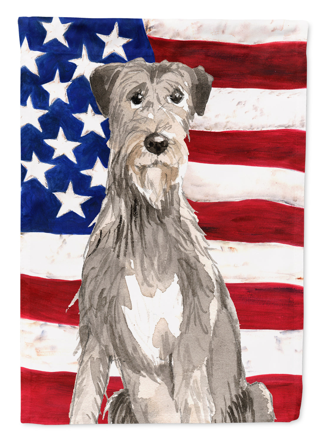 Patriotic USA Irish Wolfhound Flag Canvas House Size CK1728CHF by Caroline's Treasures