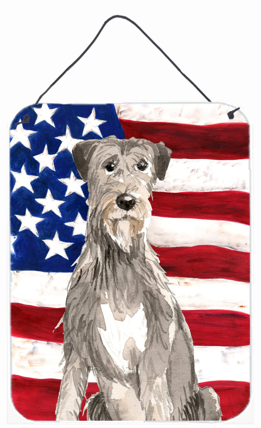 Buy this Patriotic USA Irish Wolfhound Wall or Door Hanging Prints CK1728DS1216