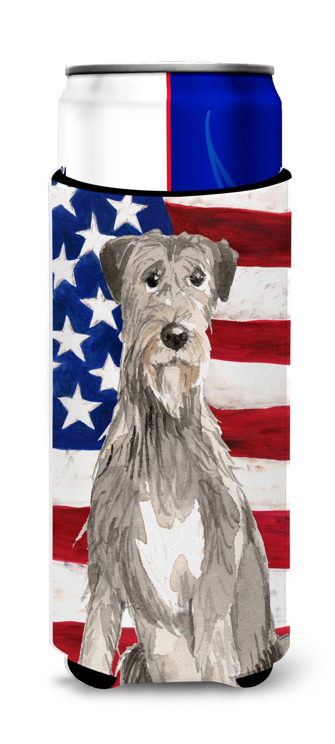 Buy this Patriotic USA Irish Wolfhound Michelob Ultra Hugger for slim cans CK1728MUK