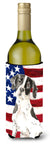 Patriotic USA English Pointer Wine Bottle Beverge Insulator Hugger CK1732LITERK by Caroline's Treasures