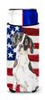 Patriotic USA English Pointer Michelob Ultra Hugger for slim cans CK1732MUK by Caroline's Treasures