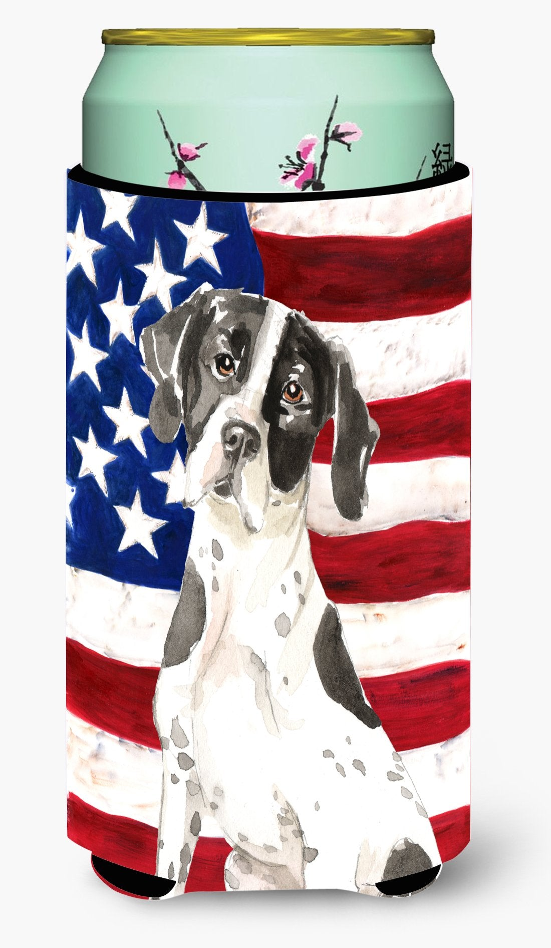 Patriotic USA English Pointer Tall Boy Beverage Insulator Hugger CK1732TBC by Caroline's Treasures