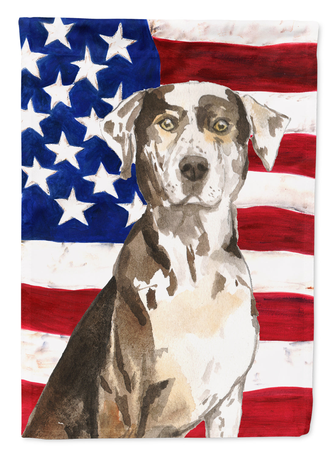 Buy this Patriotic USA Catahoula Leopard Dog Flag Canvas House Size CK1734CHF