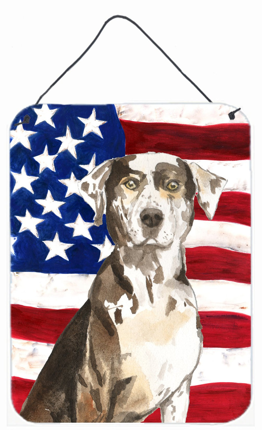 Buy this Patriotic USA Catahoula Leopard Dog Wall or Door Hanging Prints CK1734DS1216