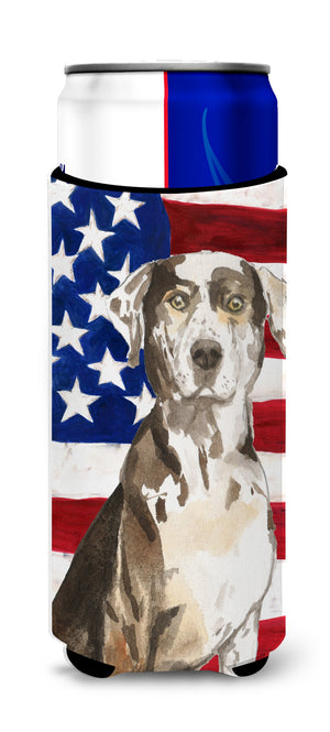 Buy this Patriotic USA Catahoula Leopard Dog Michelob Ultra Hugger for slim cans CK1734MUK