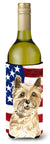 Patriotic USA Cairn Terrier Wine Bottle Beverge Insulator Hugger CK1735LITERK by Caroline's Treasures