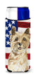 Patriotic USA Cairn Terrier Michelob Ultra Hugger for slim cans CK1735MUK by Caroline's Treasures