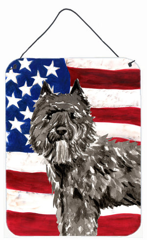 Buy this Patriotic USA Bouvier des Flandres Wall or Door Hanging Prints CK1737DS1216