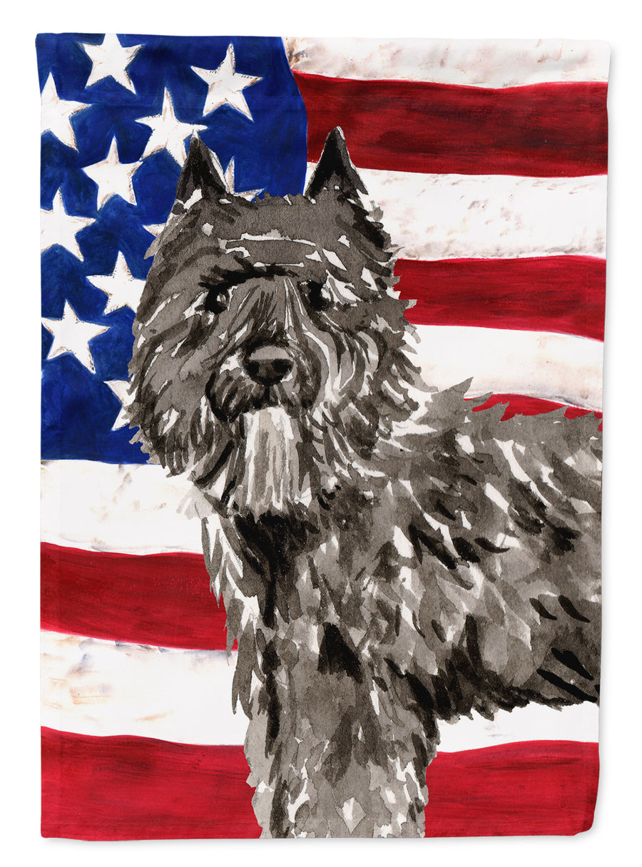 Buy this Patriotic USA Bouvier des Flandres Flag Garden Size CK1737GF
