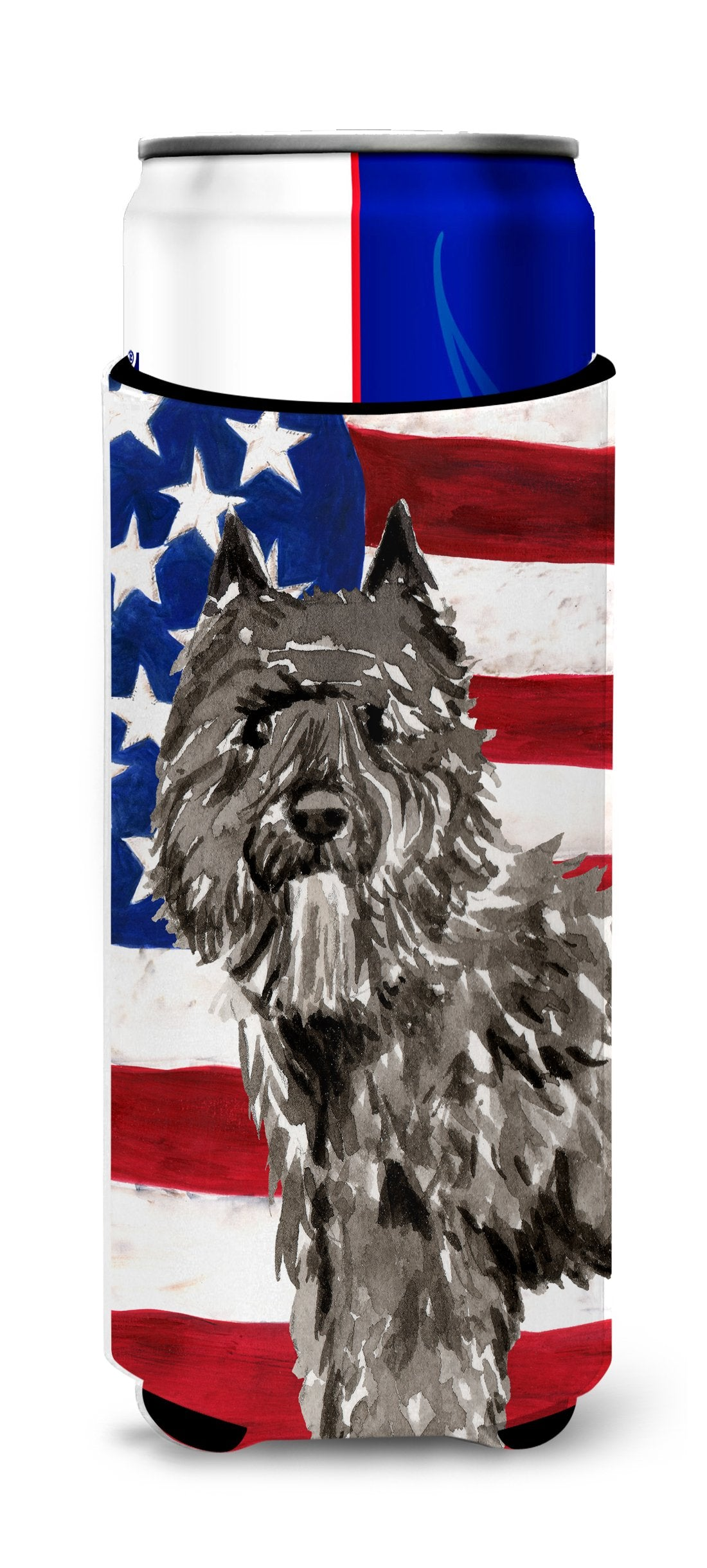 Buy this Patriotic USA Bouvier des Flandres Michelob Ultra Hugger for slim cans CK1737MUK
