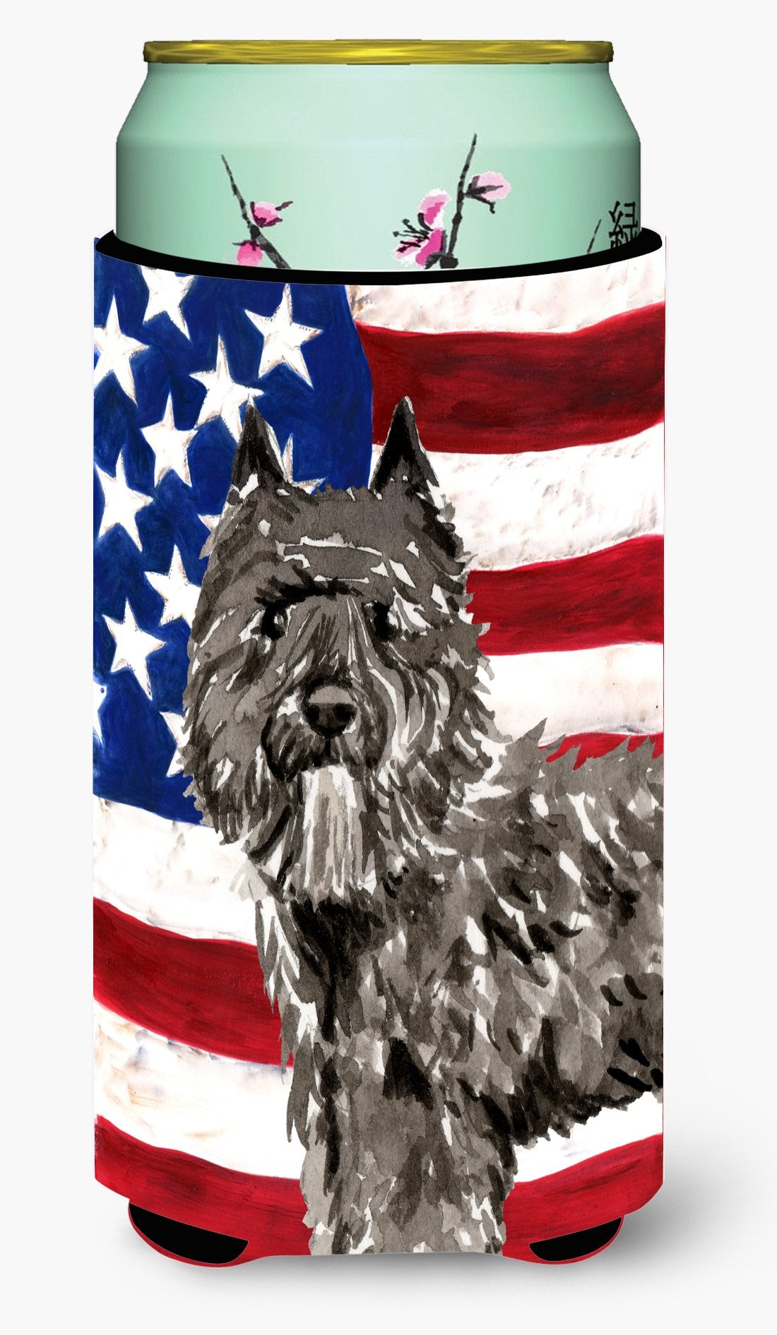 Buy this Patriotic USA Bouvier des Flandres Tall Boy Beverage Insulator Hugger CK1737TBC