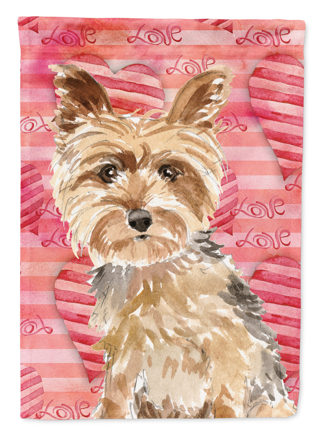 Love a Yorkie Yorkshire Terrier Flag Canvas House Size CK1743CHF by Caroline's Treasures