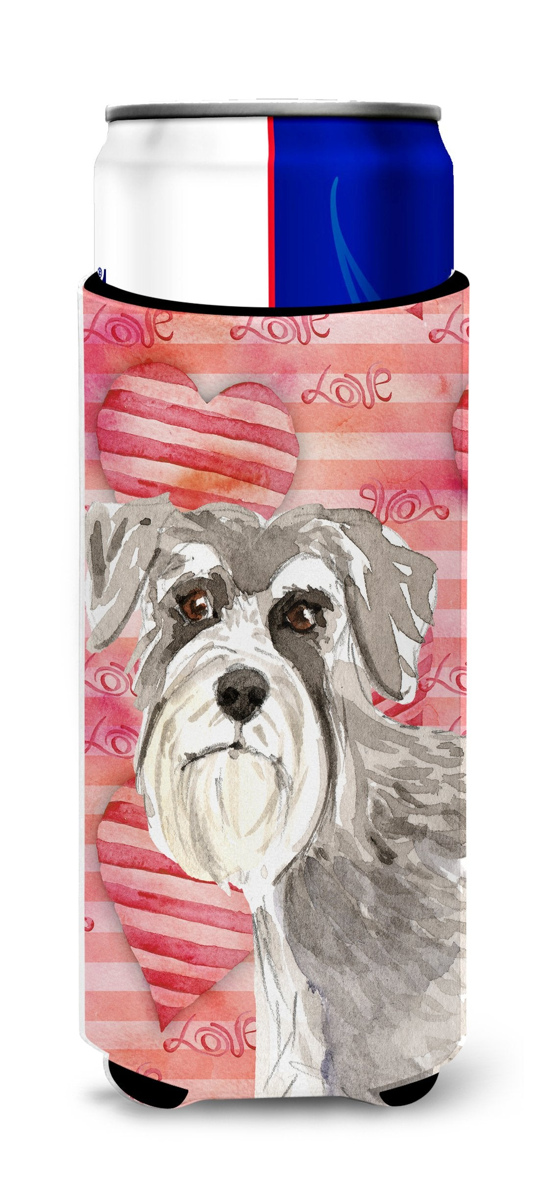 Love a Schnauzer #1 Michelob Ultra Hugger for slim cans CK1755MUK by Caroline's Treasures