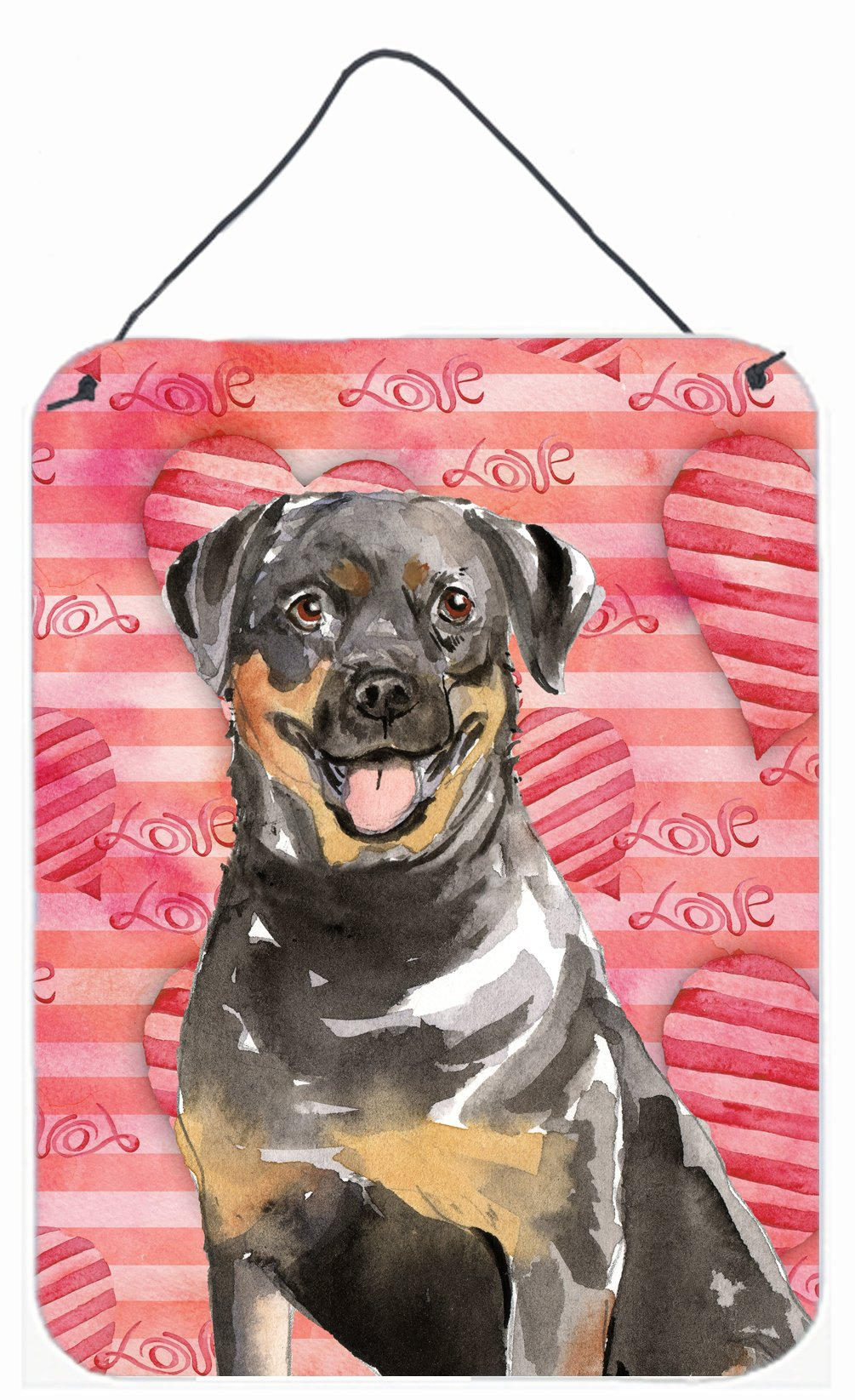 Love a Rottweiler Wall or Door Hanging Prints CK1757DS1216 by Caroline's Treasures