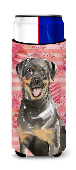Buy this Love a Rottweiler Michelob Ultra Hugger for slim cans CK1757MUK