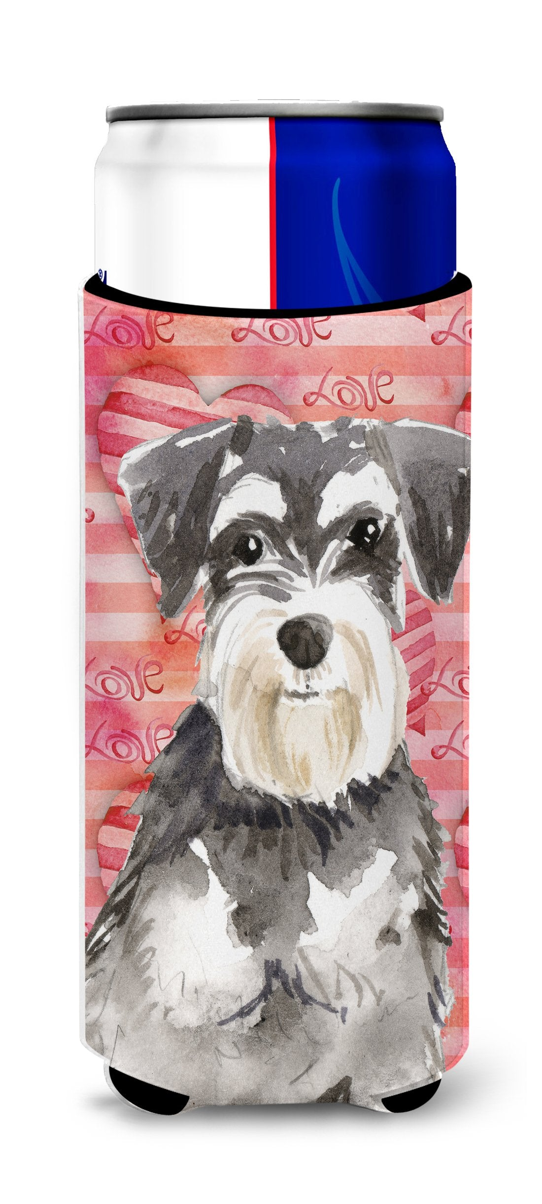 Love a Schnauzer #2 Michelob Ultra Hugger for slim cans CK1759MUK by Caroline's Treasures