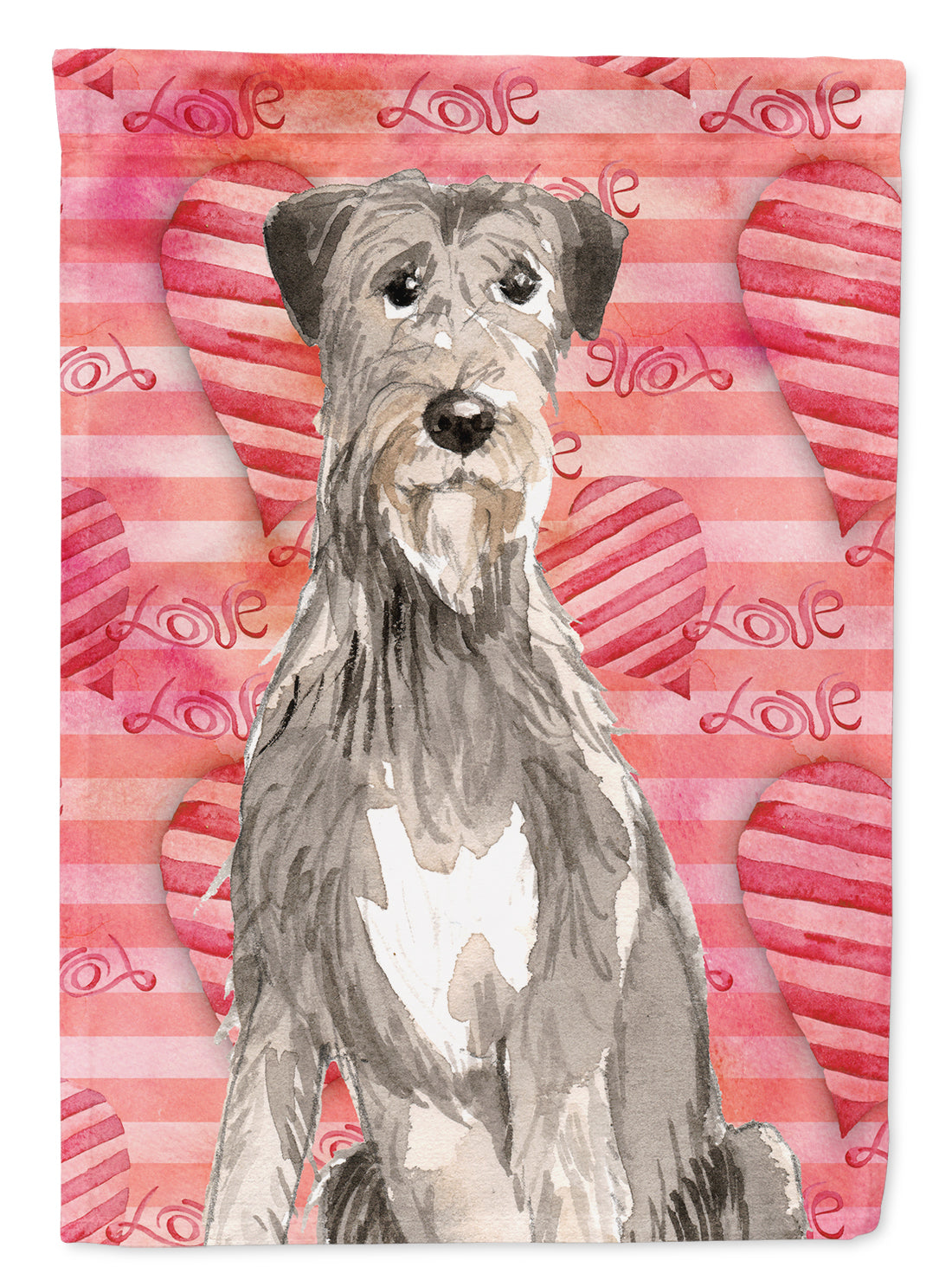 Buy this Love a Irish Wolfhound Flag Canvas House Size CK1765CHF