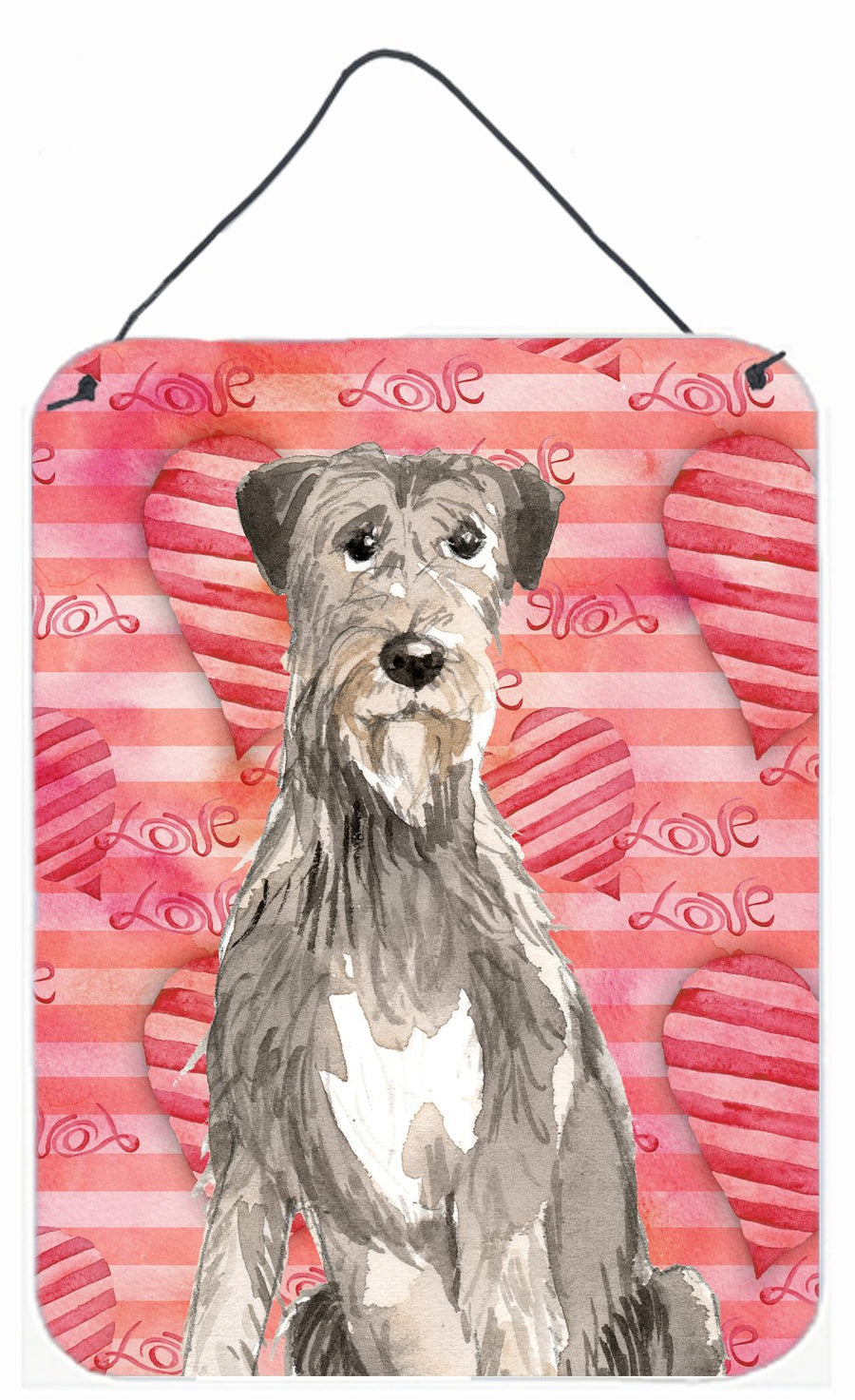 Buy this Love a Irish Wolfhound Wall or Door Hanging Prints CK1765DS1216