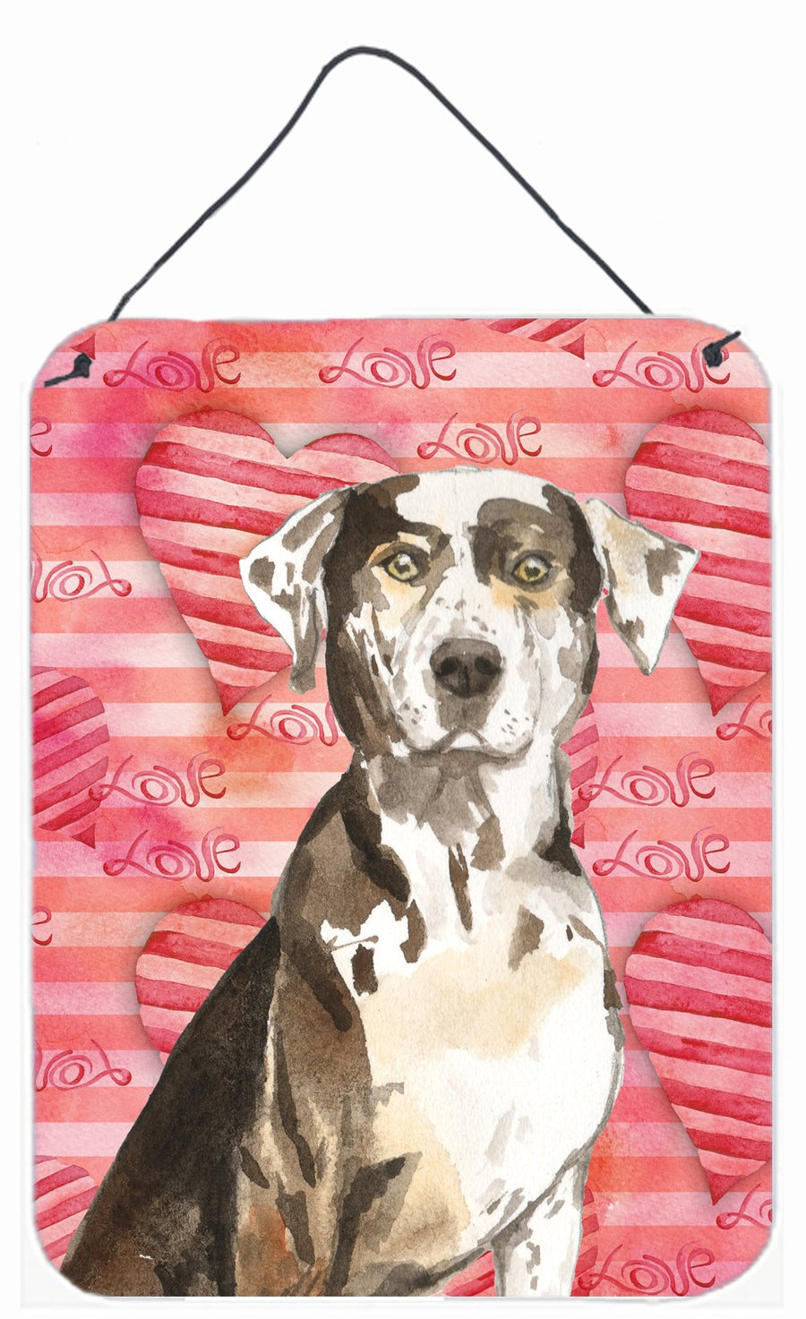 Buy this Love a Catahoula Leopard Dog Wall or Door Hanging Prints CK1771DS1216