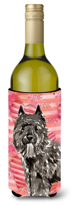 Buy this Love a Bouvier des Flandres Wine Bottle Beverge Insulator Hugger CK1774LITERK