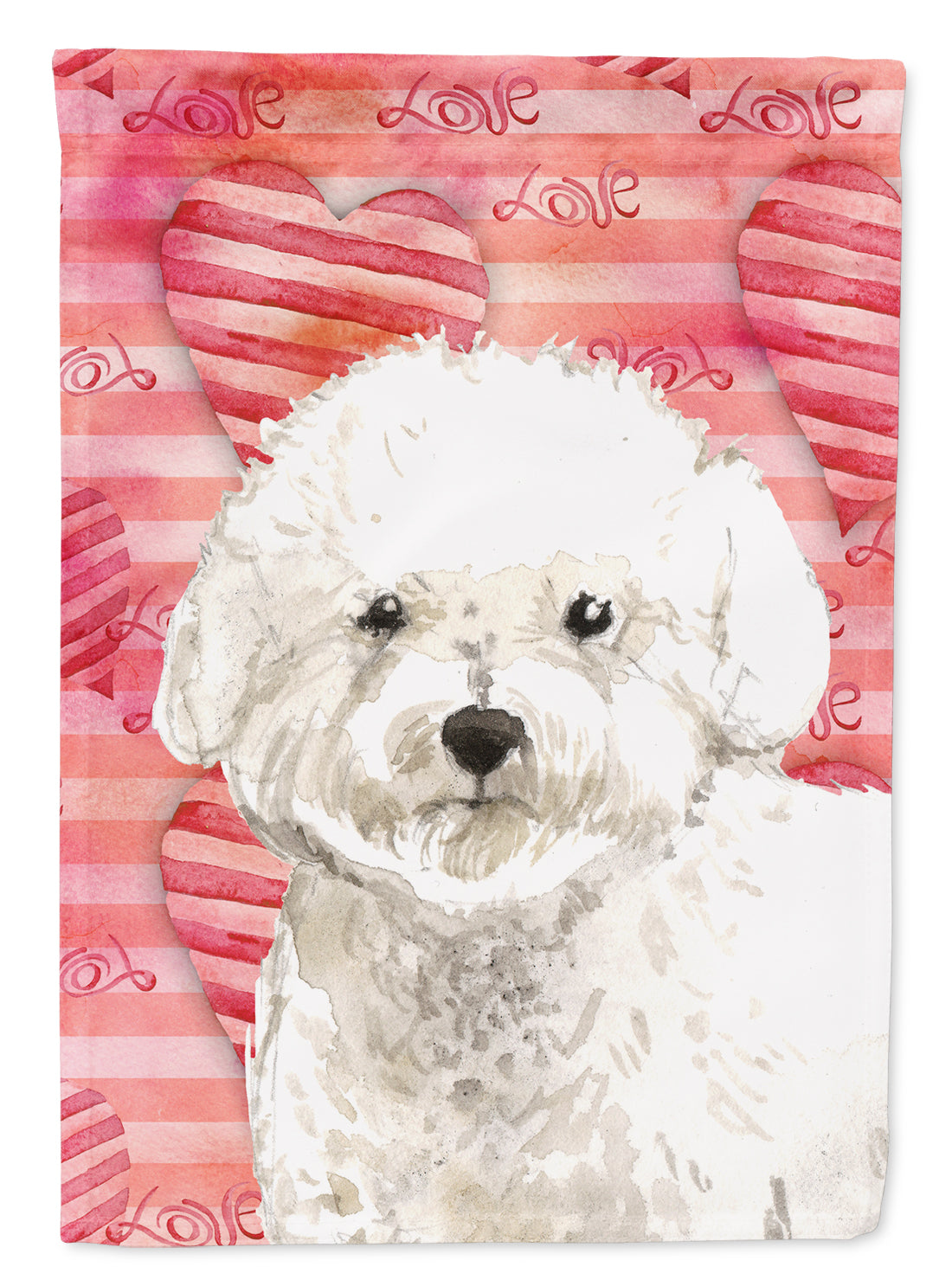 Love a Bichon Frise Flag Canvas House Size CK1777CHF by Caroline's Treasures