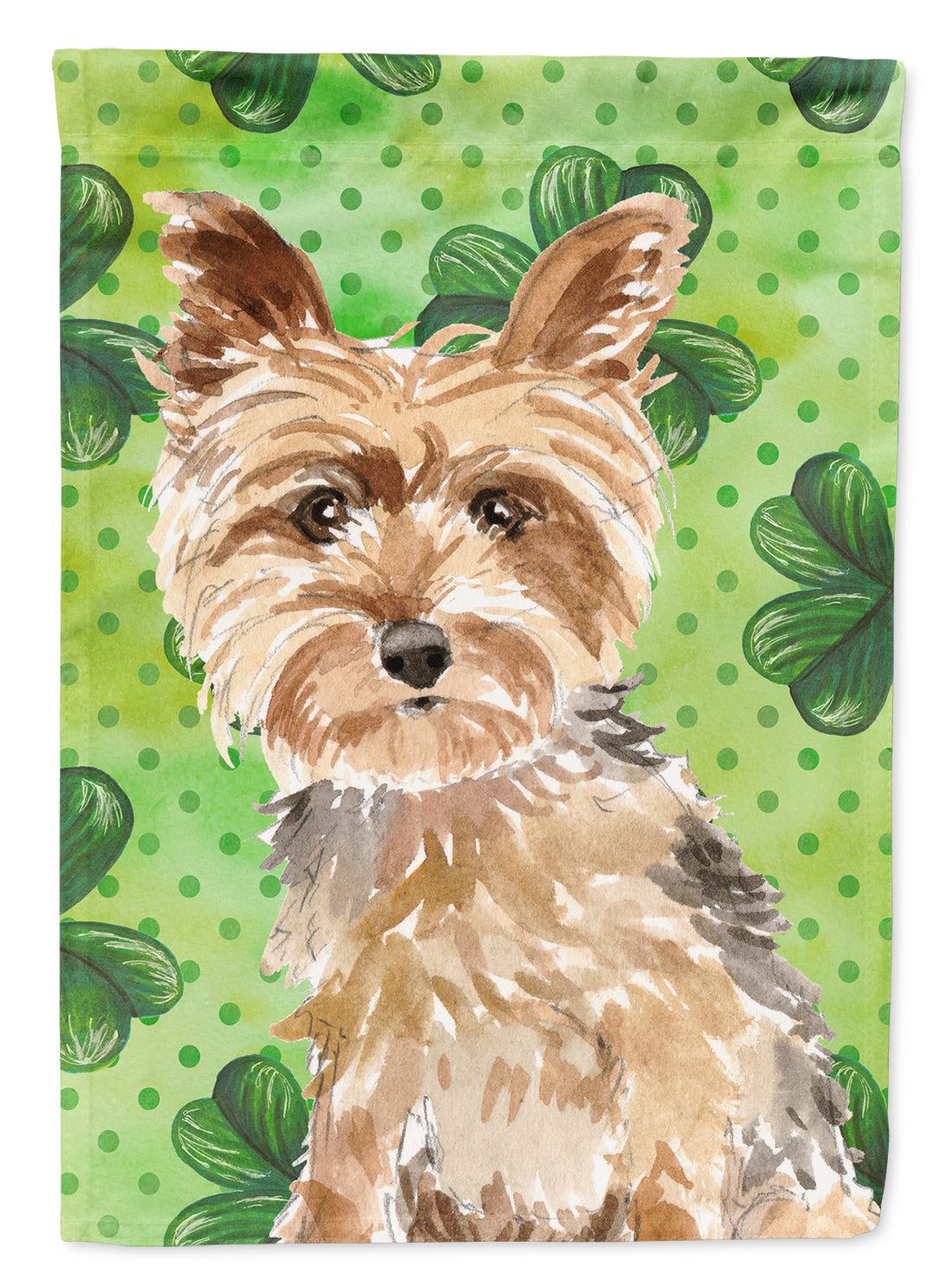 Shamrocks Yorkie Yorkshire Terrier Flag Canvas House Size CK1780CHF by Caroline's Treasures