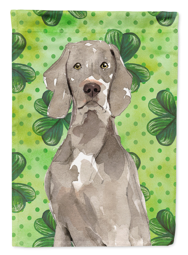 Buy this Shamrocks Weimaraner Flag Canvas House Size CK1785CHF